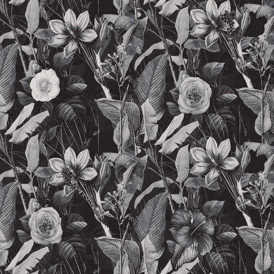 LONDON ART BLACK HEARTED LOVE WALLPAPER
