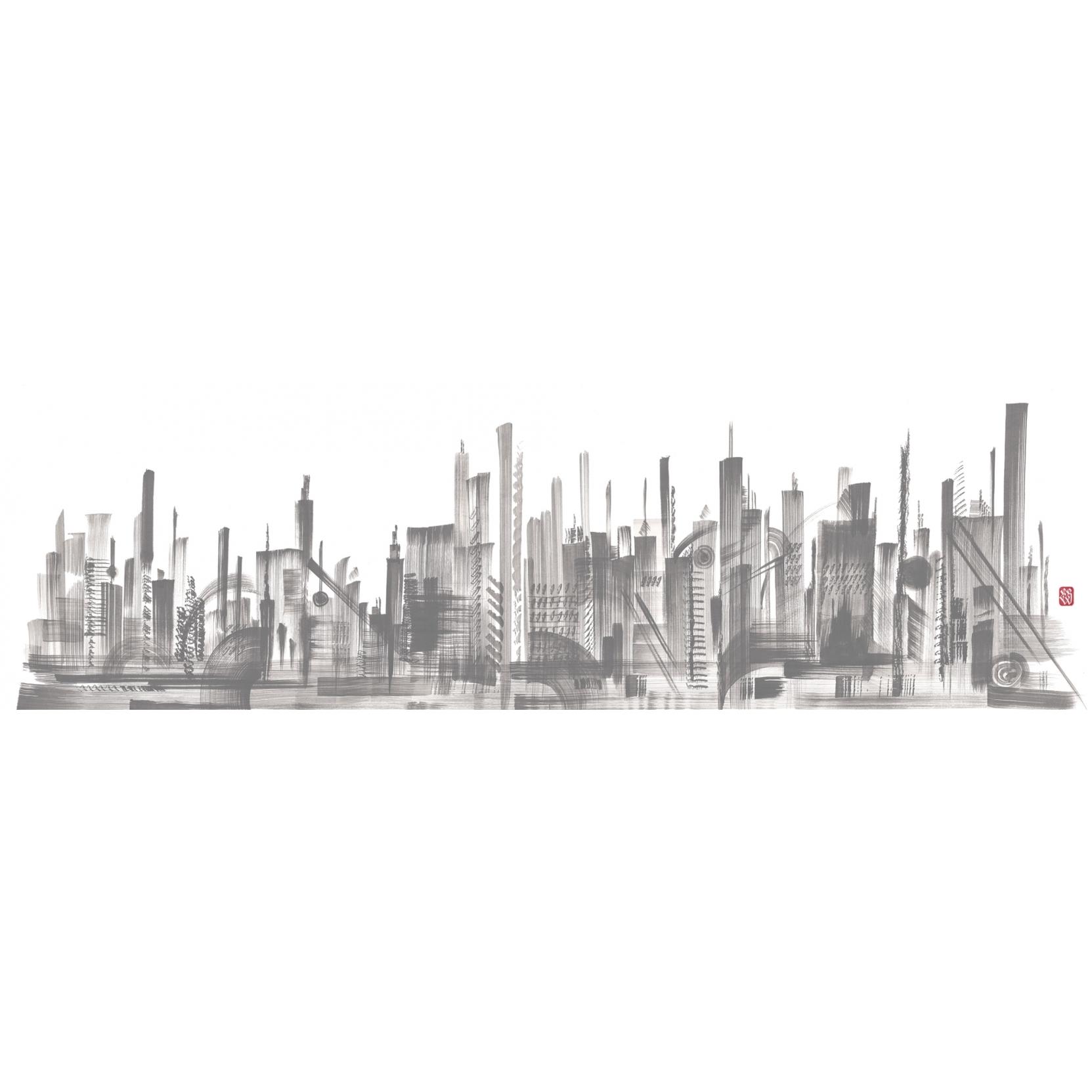 London Art Skyline Wallpaper Tattahome