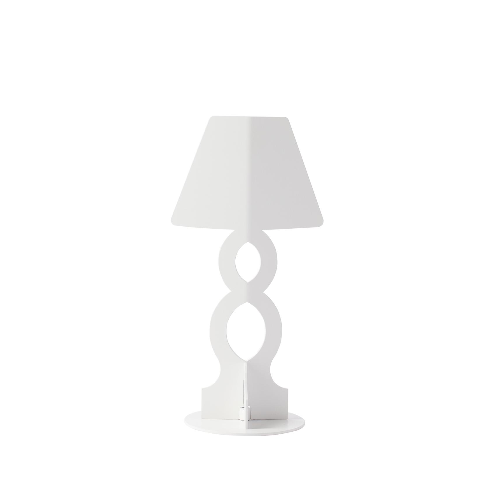 Hua design lampada da tavolo infinity white tattahome - Lampada da tavolo design ...