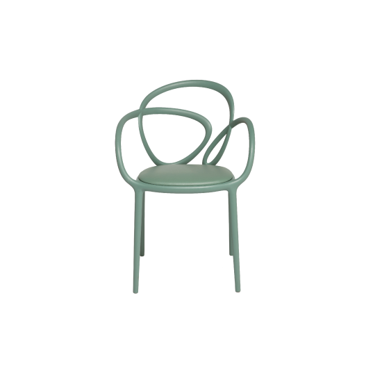 QEEBOO LOOP CHAIR WITH CUSHION SAGE GREEN