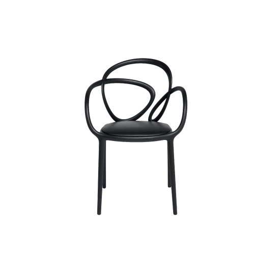 QEEBOO LOOP CHAIR WITH CUSHION BLACK
