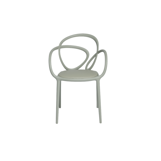 QEEBOO LOOP CHAIR WITH CUSHION BEIGE
