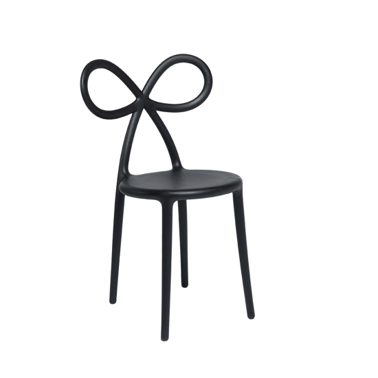 QEEBOO RIBBON CHAIR SET BLACK