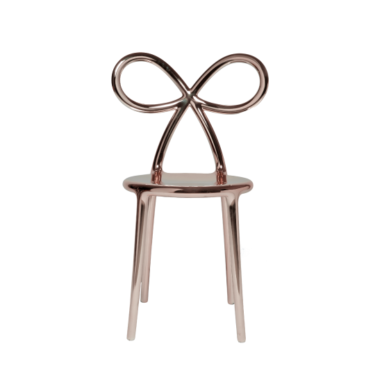 QEEBOO RIBBON CHAIR METAL FINISH PINK GOLD