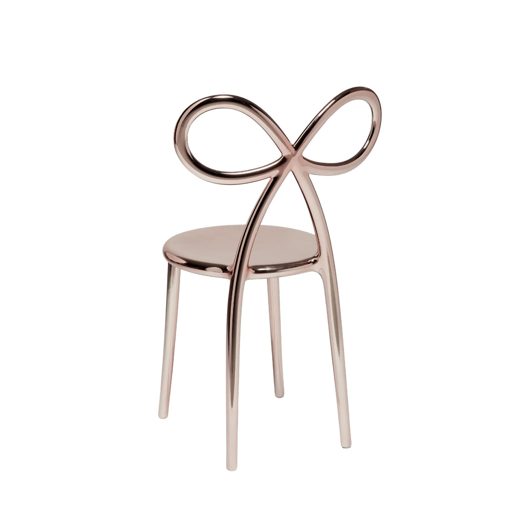 Pink Ribbon Metal Finish Chair Tattahome Gold Qeeboo nNwmPy8Ov0