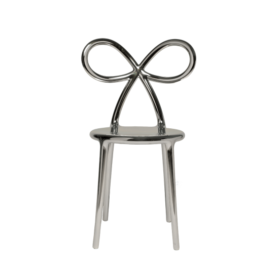 QEEBOO RIBBON CHAIR METAL FINISH SILVER