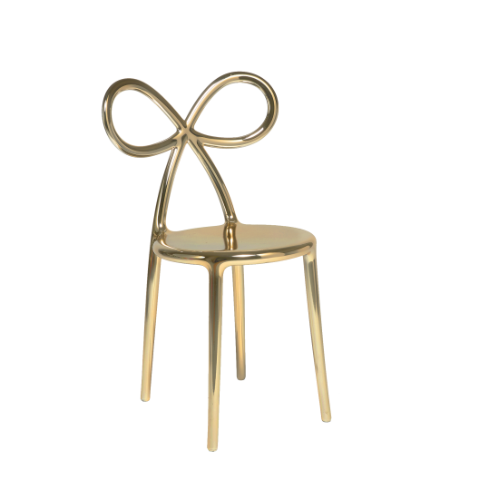 QEEBOO RIBBON CHAIR METAL FINISH GOLD