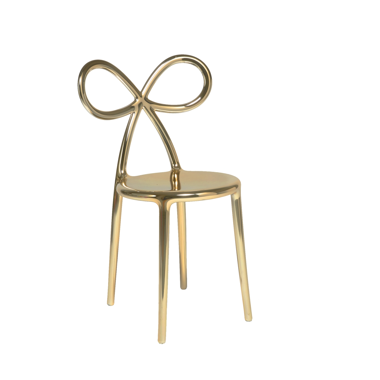 QEEBOO RIBBON CHAIR METAL FINISH SET GOLD