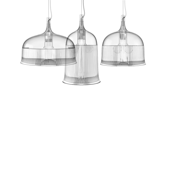 QEEBOO GOBLETS CEILING LAMP SMALL TRANSPARENT