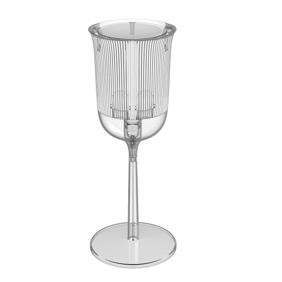 QEEBOO GOBLETS TABLE LAMP SMALL TRANSPARENT