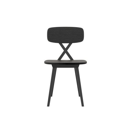 QEEBOO X CHAIR SEDIA SENZA CUSCINO BLACK WOOD