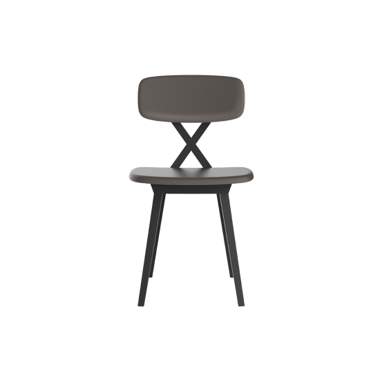 QEEBOO X CHAIR WITH CUSHION DOVE GREY