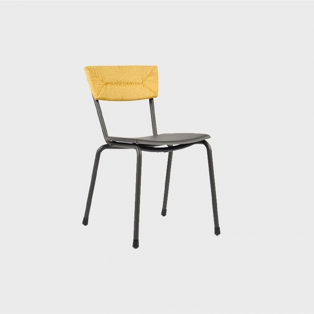 Maiori Mica Woven Chair Charcoal Tattahome