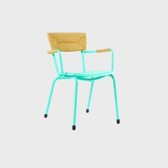 MAIORI MICA WOVEN ARMCHAIR BISCAY GREEN