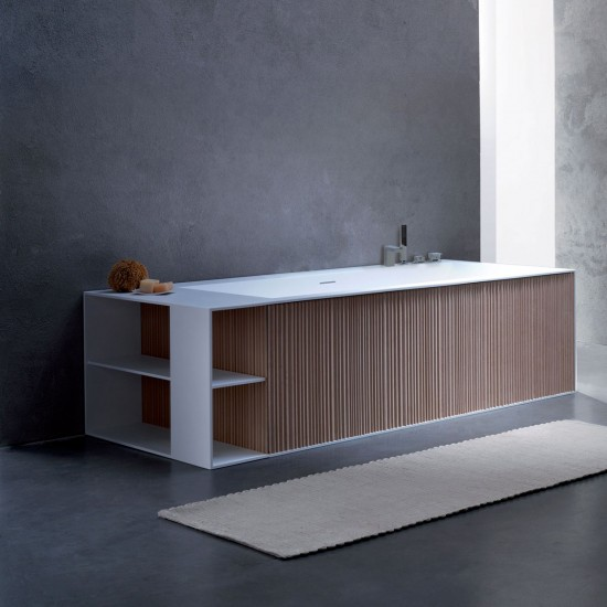 BLUBLEU VEER BATHTUB WITH PANELS RULE