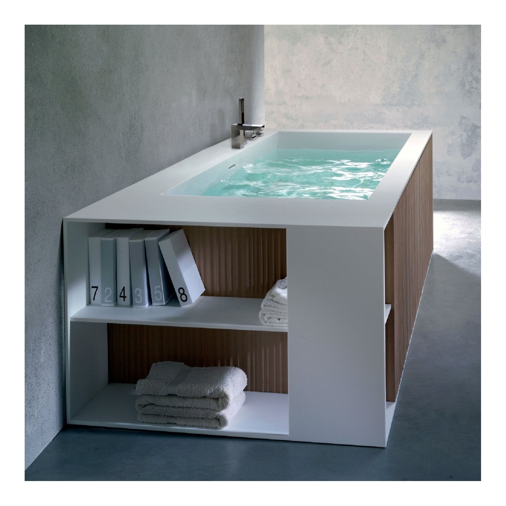 BLUBLEU VEER BATHTUB WITH PANELS RULE - TattaHome