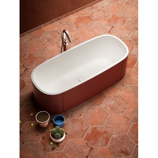 BLUBLEU BLONDECRAZY FREESTANDING OVAL BATHTUB