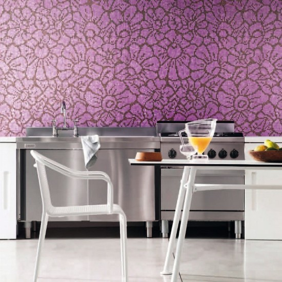 BISAZZA DECORI FLORA GRAPHIC FLOWER POURPLE