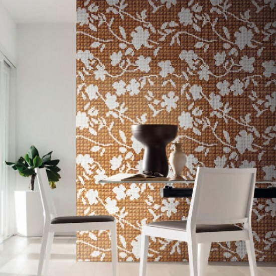 BISAZZA DECORI FLORA FLOWER CORNER BROWN