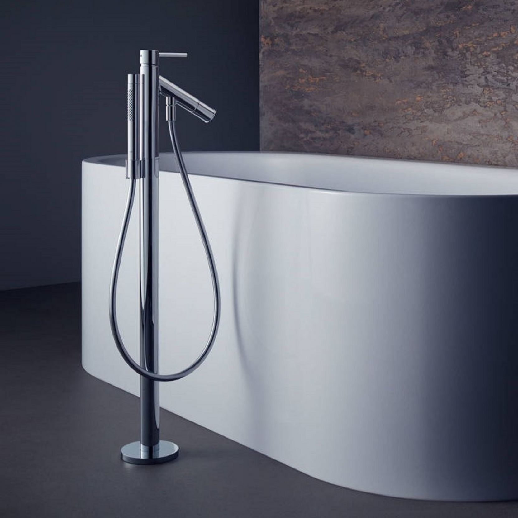 AXOR HANSGROHE STARCK SINGLE LEVER BATH MIXER FREESTANDING - TattaHome