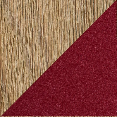 PICKLED TEAK WARM RED ALUMINUM